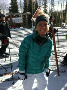 Me when I was just a newbie snowboarder last year. My outfit has come a long way since then!